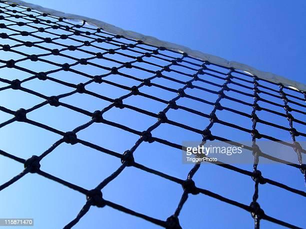 below the net