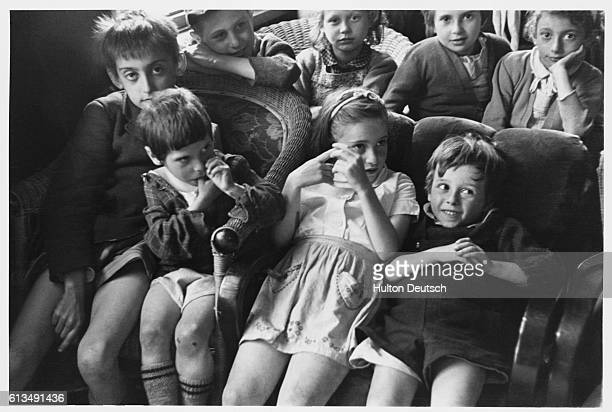 Belsen children weeks after liberation from the Belson concentration camp 1945