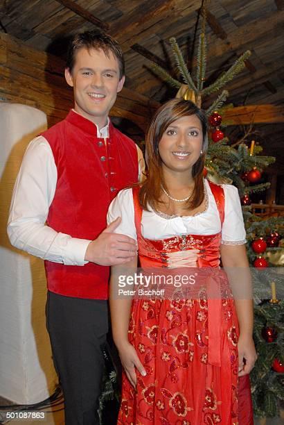 Belsy Demetz Lebensgefährte Florian ZDFMusikShowWeihnachten mit Marianne Michael Ellmau Tirol Österreich Lebensgefährtin Weihnachtsbaum Volksmusik...