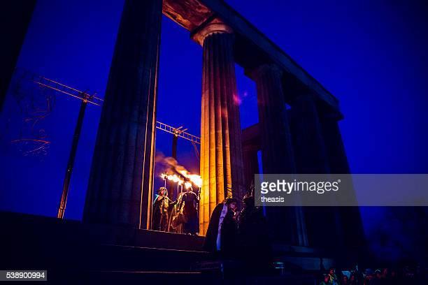 beltane fire festival, edinburgh - theasis stock-fotos und bilder