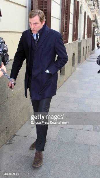 Beltran Gomez Acebo attends the Princess Margarita's 78th birthday on March 6 2017 in Madrid Spain Princess Margarita is the sister of King Juan...