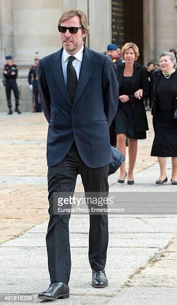 Beltran GomezAcebo attends the Corpore Insepulto mass for Carlos de Borbon Dos Sicilias second cousin of King Juan Carlos and Duke of Calabria at san...