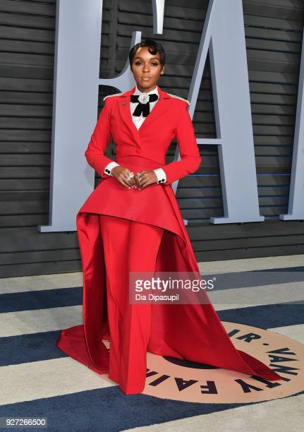 Belvedere Ambassador Janelle Monae attends the 2018 Vanity Fair Oscar Party hosted by Radhika Jones at Wallis Annenberg Center for the Performing...
