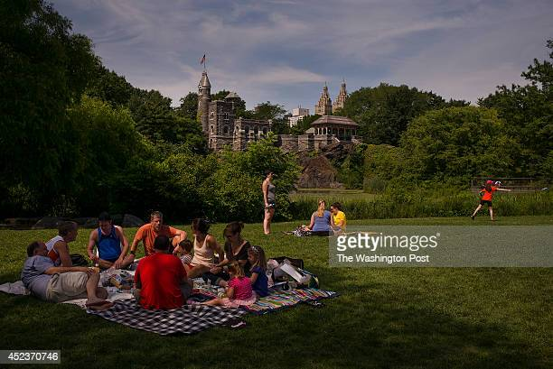 Belvedere Castle as seen from across the Turtle Pond in Central Park in New York New York on June 28 2014