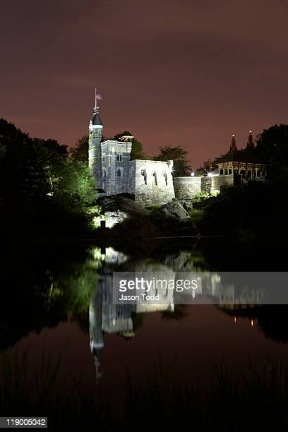 Belvedere Castle in central park at night