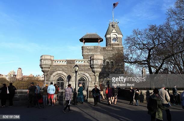 Belvedere Castle in Central Park in New York New York on April 16 2016