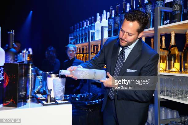 Belvedere is served at the Moet Hennessy John Legend's HEAVEN with the Art of Elysium at Barker Hangar on January 6 2018 in Santa Monica California