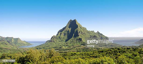 belvedere lookout  scenic view ... moorea - tahiti stock pictures, royalty-free photos & images