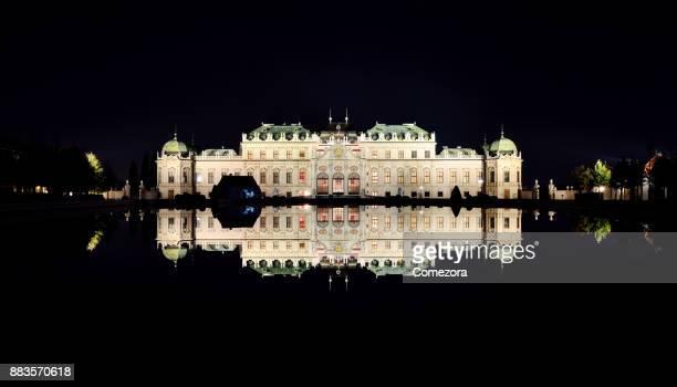 Belvedere Palace at Night, Vienna