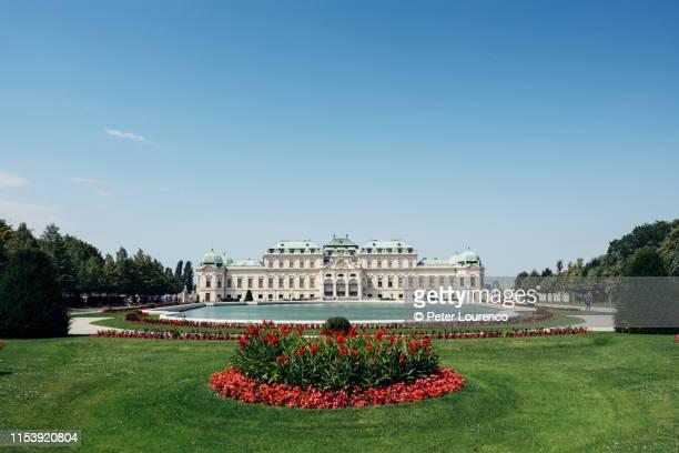 belvedere palace - peter lourenco stockfoto's en -beelden