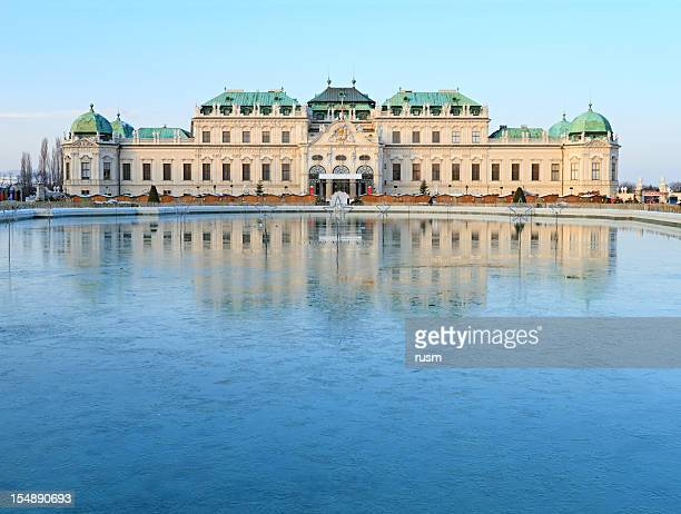 belvedere palace, vienna - vienna austria stock pictures, royalty-free photos & images