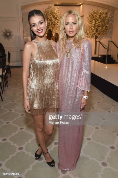 Belvedere Vodka Celebrates The Rachel Zoe Spring/Summer 2019 Presentation with Victoria Justice and Rachel Zoe at Hotel Bel Air on September 4 2018...