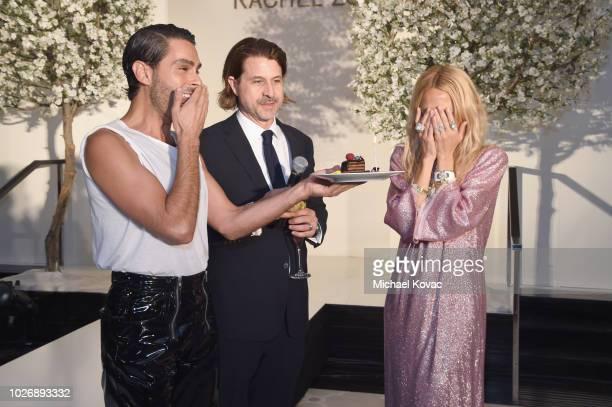 Belvedere Vodka Celebrates The Rachel Zoe Spring/Summer 2019 Presentation with Joey Maalouf Rodger Berman and Rachel Zoe at Hotel Bel Air on...