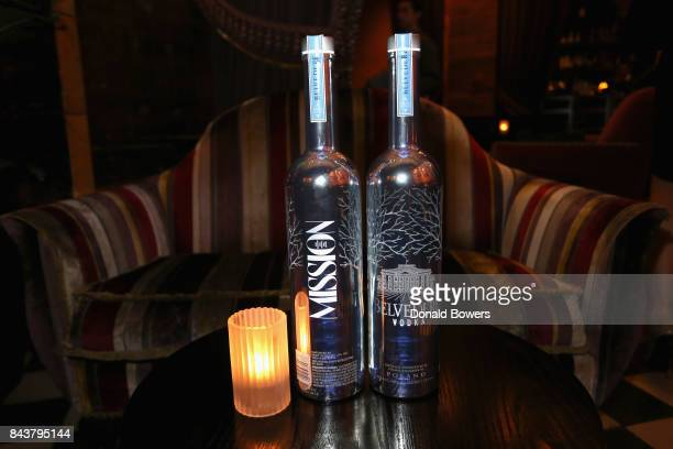 Belvedere Vodka on display at the launch of Mission Magazine with Belvedere Vodka at Rose Bar at Gramercy Park Hotel on September 6 2017 in New York...