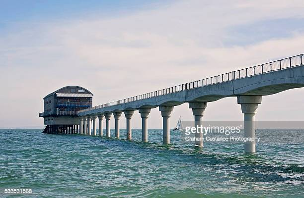 bembridge lifeboat station - isle of wight stock pictures, royalty-free photos & images