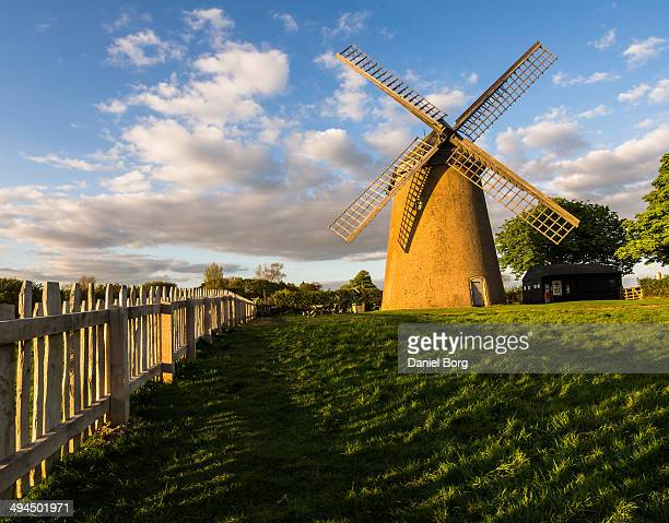 Bembridge windmill with a warm glow from the sun about 30 minuets before it sets. Knowle Mill, better known today as Bembridge Windmill, is a Grade I...