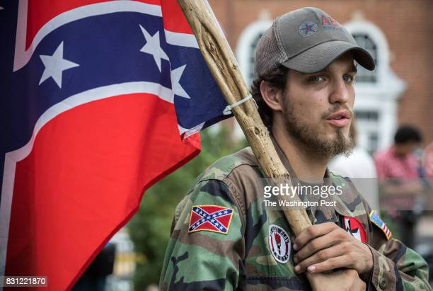 Ben a 21yearold KKK member from Harrison AK in Emancipation Park prior to the Unite the Right rally in CharlottesvilleVirginia August 12 2017