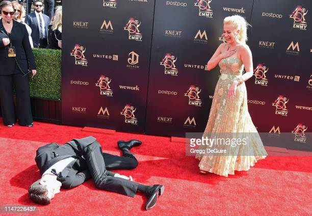 Ben Aaron and Kellie Pickler attend the 46th annual Daytime Emmy Awards at Pasadena Civic Center on May 05 2019 in Pasadena California