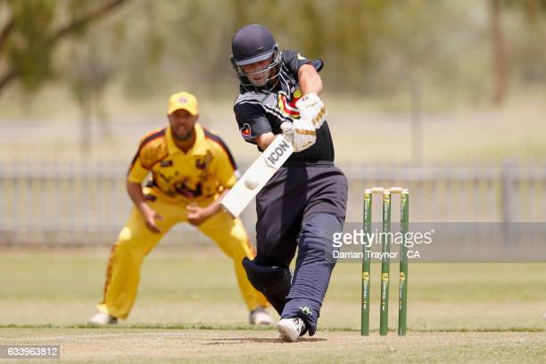Ben Abbatangelo of Victoria bats during the National Indigenous Cricket Championships match between Western Australia and Victoria on February 6 2017...