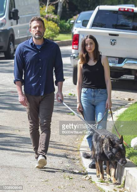 Ben Affleck and Ana de Armas are seen on April 01 2020 in Los Angeles California