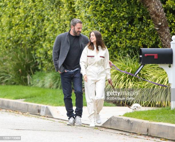 Ben Affleck and Ana de Armas are seen on April 12 2020 in Los Angeles California