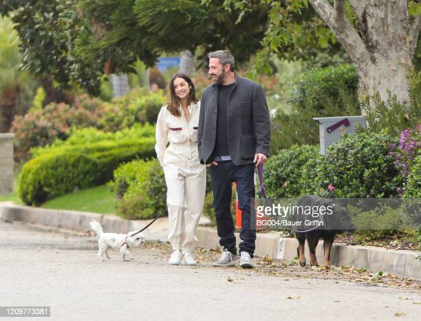 Ben Affleck and Ana de Armas are seen on April 12, 2020 in Los Angeles, California.