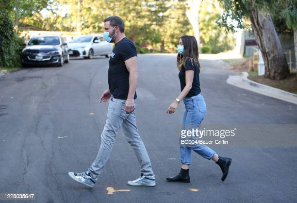 Ben Affleck and Ana de Armas are seen on August 13, 2020 in Los Angeles, California.