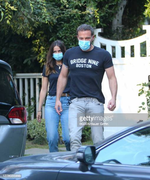 Ben Affleck and Ana de Armas are seen on August 13 2020 in Los Angeles California