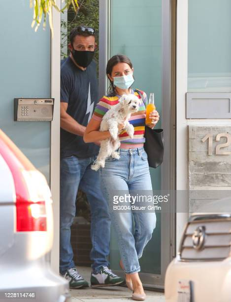 Ben Affleck and Ana de Armas are seen on August 19 2020 in Los Angeles California