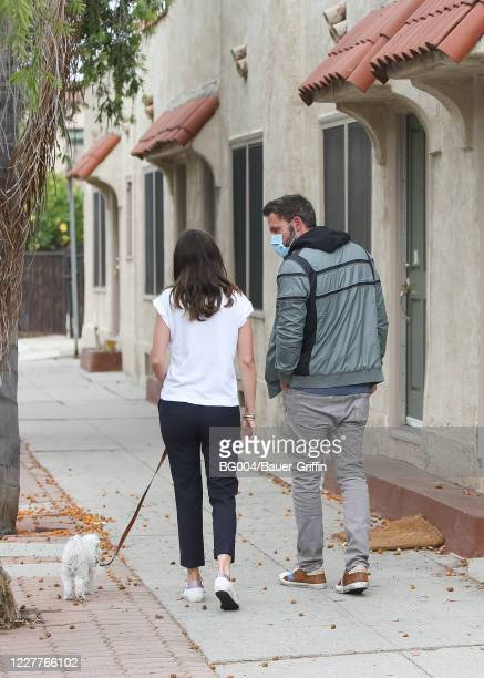 Ben Affleck and Ana de Armas are seen on July 24 2020 in Los Angeles California