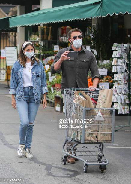 Ben Affleck and Ana de Armas are seen on June 05 2020 in Los Angeles California
