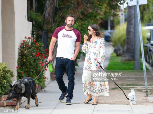 Ben Affleck and Ana de Armas are seen on June 30 2020 in Los Angeles California
