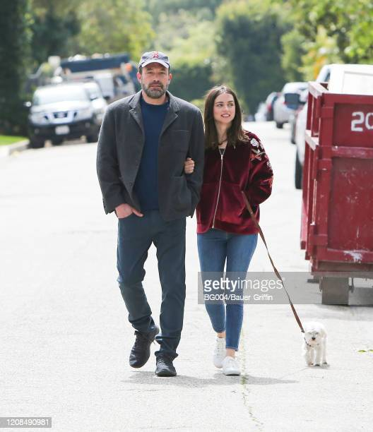 Ben Affleck and Ana de Armas are seen on March 28 2020 in Los Angeles California