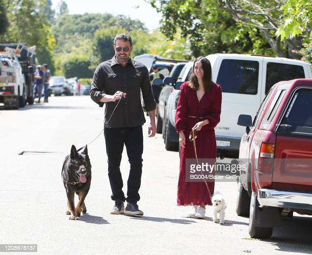 Ben Affleck and Ana de Armas are seen on March 30 2020 in Los Angeles California