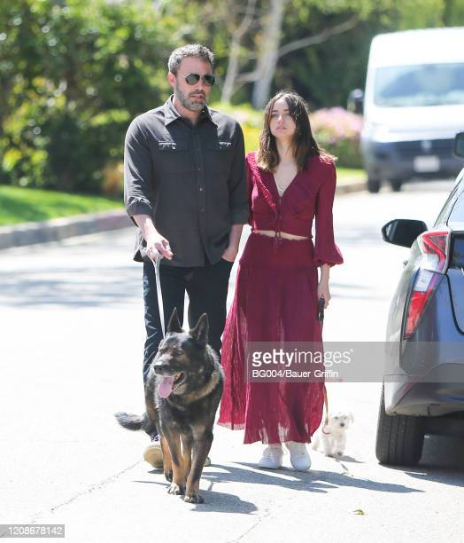 Ben Affleck and Ana de Armas are seen on March 30, 2020 in Los Angeles, California.