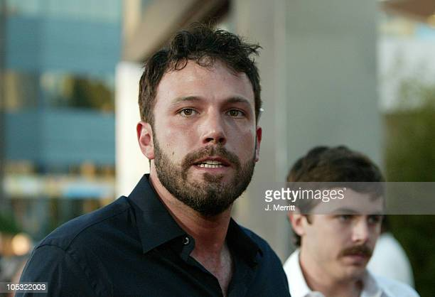 Ben Affleck and Casey Affleck during The Bourne Supremacy World Premiere Arrivals at ArcLight Cinerama Dome in Hollywood California United States