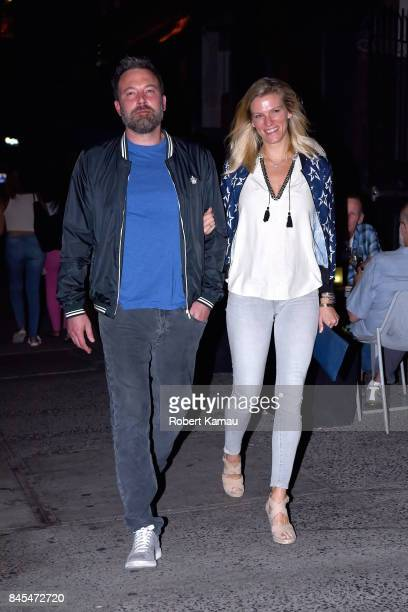 Ben Affleck and girlfriend Lindsay Shookus step out for dinner in Manhattan on September 10 2017 in New York City