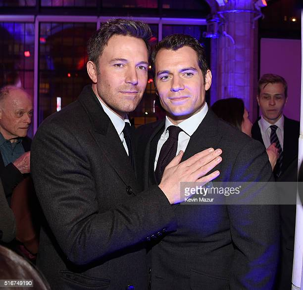 Ben Affleck and Henry Cavill attend the after party for 'Batman V Superman Dawn Of Justice' on March 20 2016 in New York City