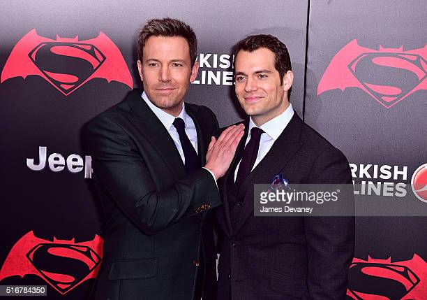 Ben Affleck and Henry Cavill attend the 'Batman V Superman Dawn Of Justice' New York premiere at Radio City Music Hall on March 20 2016 in New York...