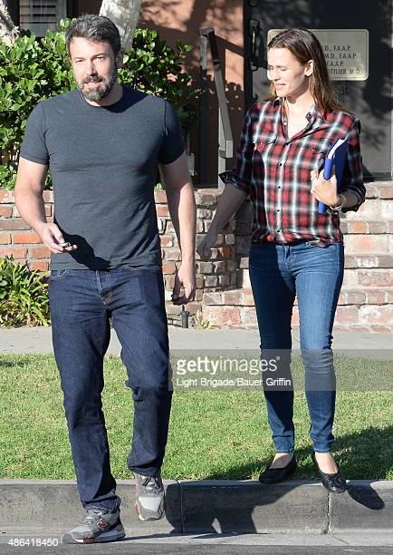 Ben Affleck and Jennifer Garner are seen in Santa Monica CA on September 03 2015 in Los Angeles CAlifornia