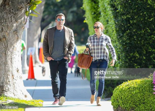 Ben Affleck and Jennifer Garner are seen on April 09 2019 in Los Angeles California