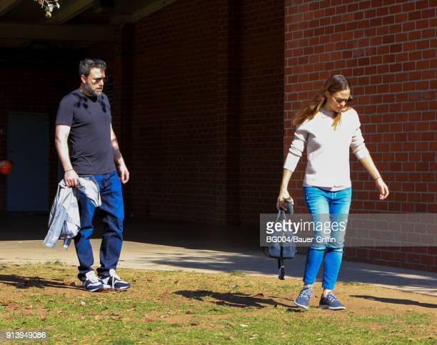 Ben Affleck and Jennifer Garner are seen on February 03 2018 in Los Angeles California