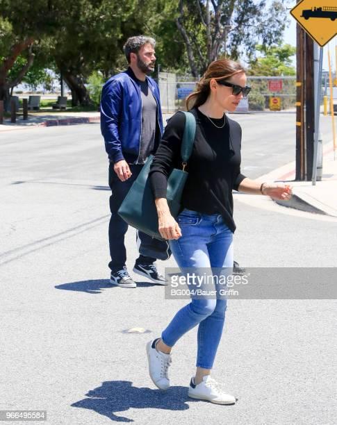 Ben Affleck and Jennifer Garner are seen on June 02 2018 in Los Angeles California