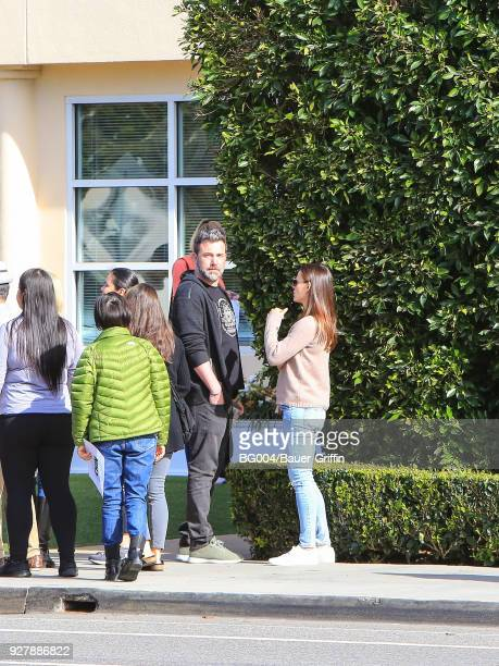 Ben Affleck and Jennifer Garner are seen on March 05 2018 in Los Angeles California