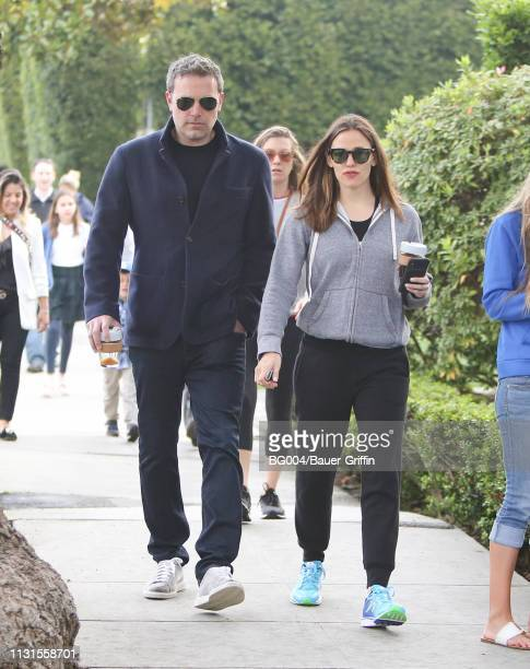 Ben Affleck and Jennifer Garner are seen on March 19 2019 in Los Angeles California