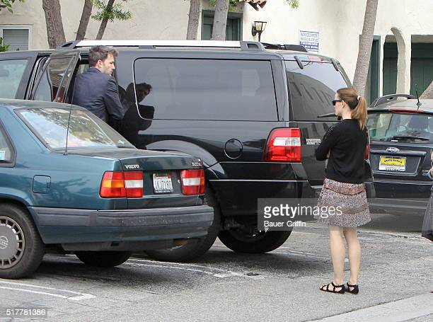 Ben Affleck and Jennifer Garner are seen on March 27 2016 in Los Angeles California