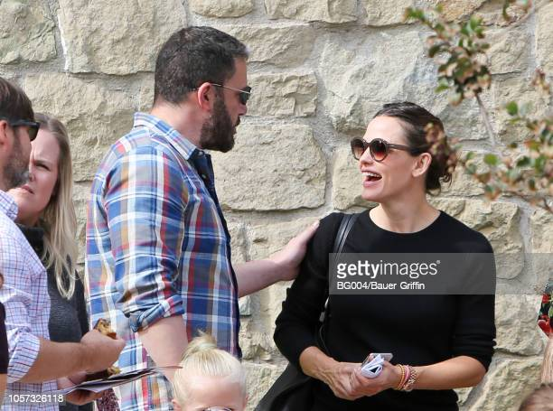 Ben Affleck and Jennifer Garner are seen on November 04 2018 in Los Angeles California