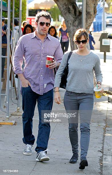 Ben Affleck and Jennifer Garner are seen on November 07 2013 in Los Angeles California