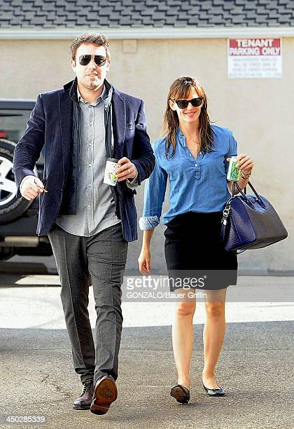 Ben Affleck and Jennifer Garner are seen on November 17 2013 in Los Angeles California