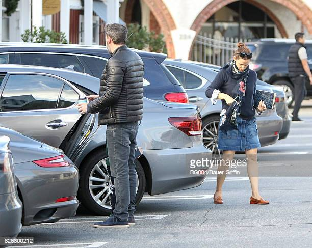 Ben Affleck and Jennifer Garner are seen on November 28 2016 in Los Angeles California